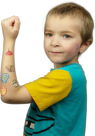 boy with tattoos